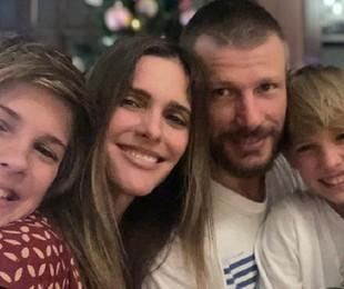 Fernanda Lima com os filhos, Francisco e João | Reprodução