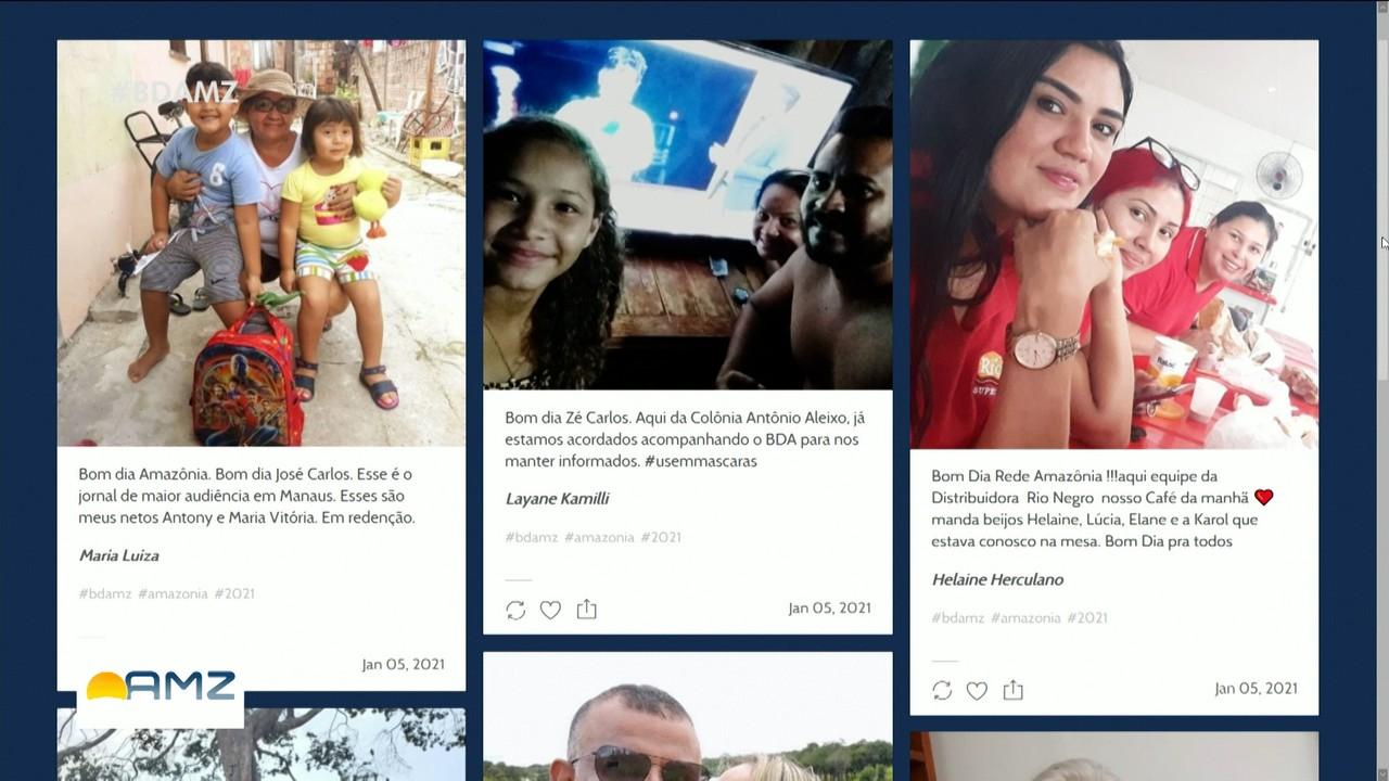 Público envia fotos e interage com BDA de terça, dia 05