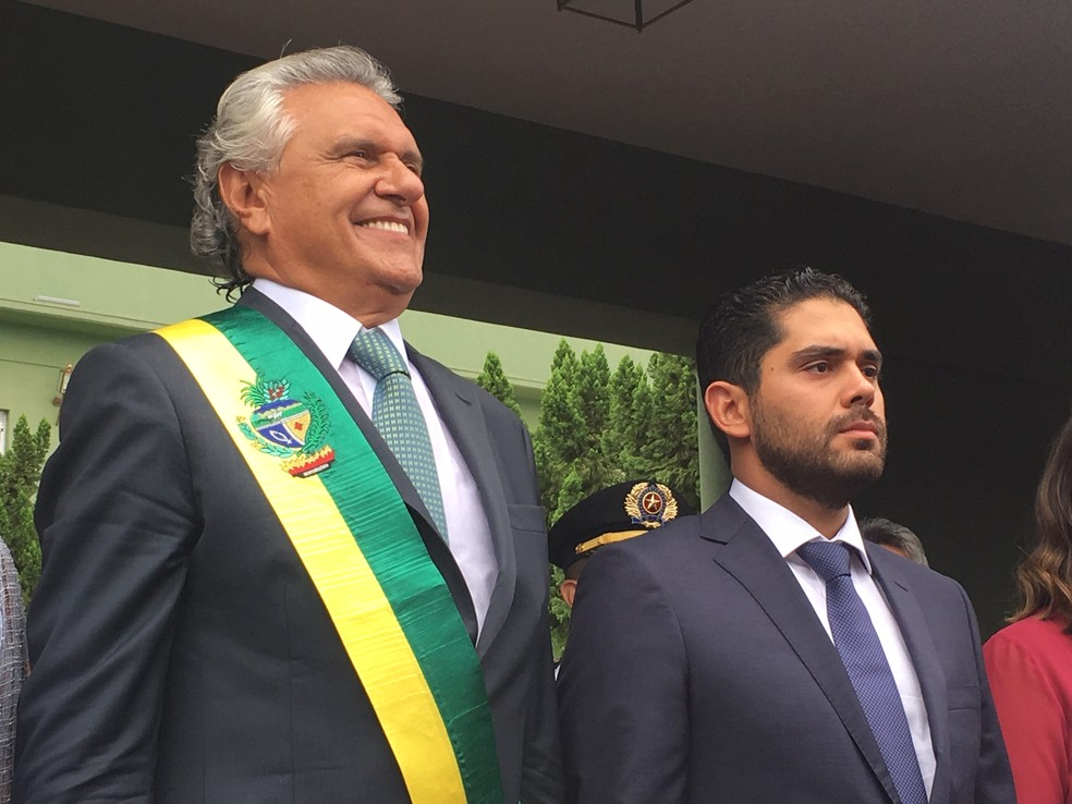 Ronaldo Caiado é oficialmente novo governador de Goiás — Foto: Silvio Túlio/G1