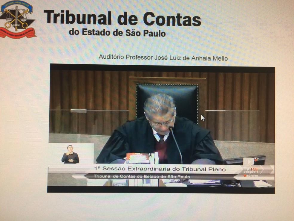 Relator das contas de Alckmin, conselheiro Citadini, diz que o Estado deve divulgar melhor dados e beneficiários de renúncias fiscais (Foto: reprodução)