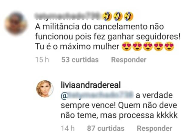 Lívia Andrade responde a seguidores (Foto: Reprodução/Instagram)