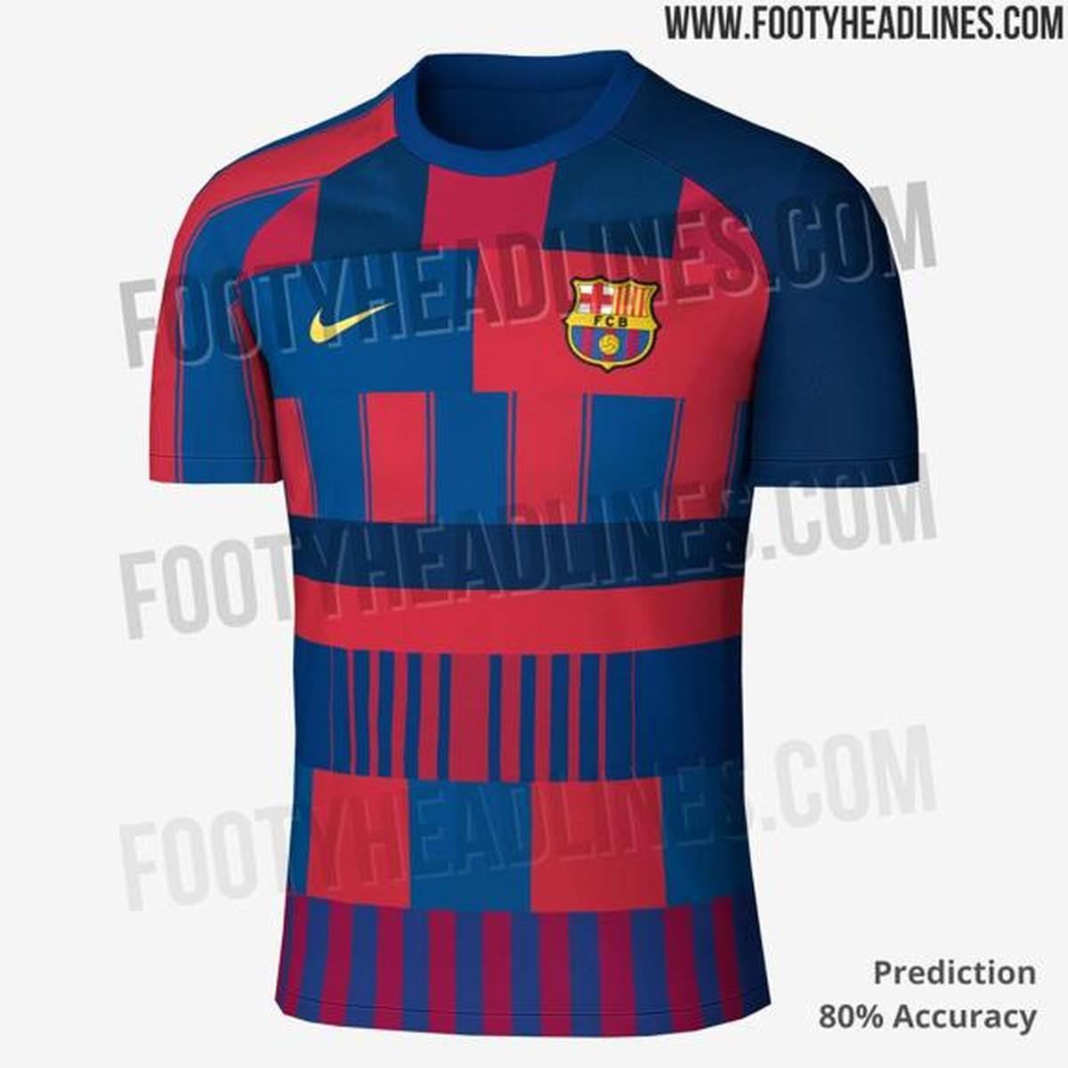 Site vaza camisa que mistura desenhos do Barça, mas clube nega que usará  modelo   Brasil Mundial FC   Globoesporte 4b6805f162