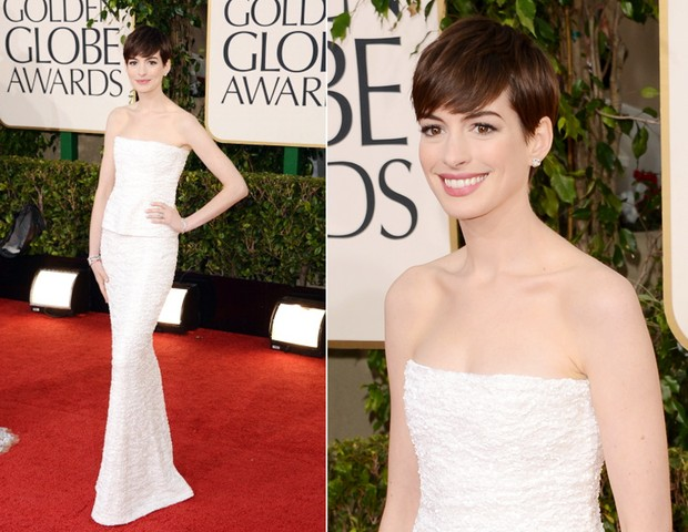 Anne Hathaway, de Chanel (Foto: Getty Images)