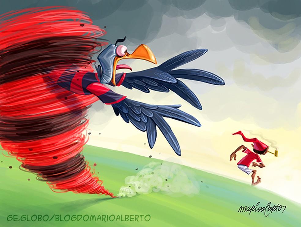 24/1/2020 - 32ª RODADA - Athletico 2x1 Flamengo — Foto: Mario Alberto