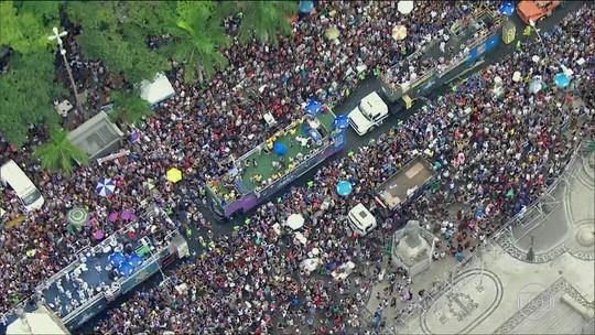 Blocos de rua do Rio atraem mais de 1,5 milhão de foliões