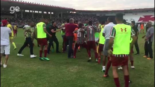 Flu é multado em R$ 20 mil e perde dois mandos por confusão contra o Vasco, pelo Carioca Sub-20