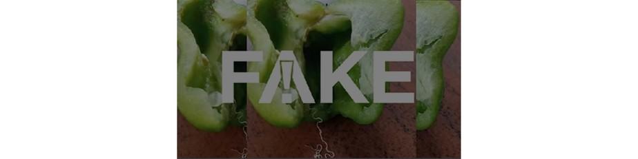 É #FAKE que novo verme chamado Simla Mirch esteja contaminando pimentões no Brasil