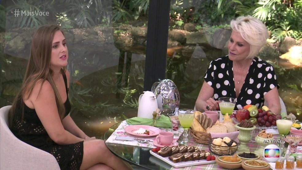 -  Patrícia em entrevista a Ana Maria Braga no   34;Mais Você  34;  Foto: Reprodução/TV Globo