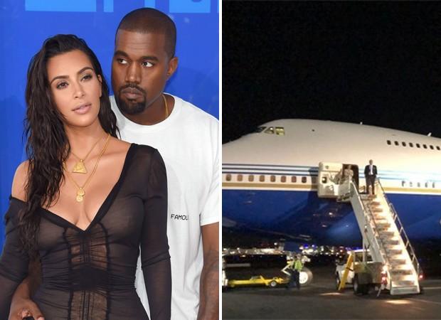 Kim Kardashian e Kanye West (Foto: Getty Images e Reprodução / Instagram)