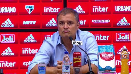 """Aguirre admite queda do São Paulo e se preocupa: """"Temos que rapidamente recuperar o nível"""""""