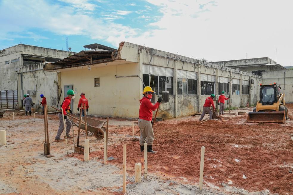 Obra de ampliação do HE de Macapá — Foto: GEA/Divulgação