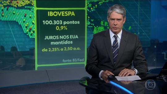 Ibovespa fecha pela primeira vez na história acima dos cem mil pontos