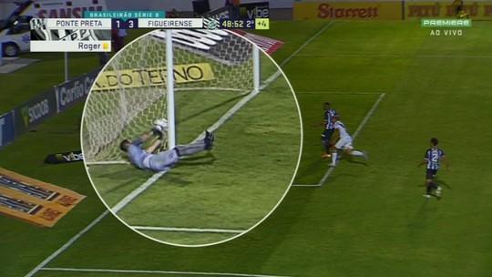 Vídeo: bola cruza a linha, goleiro tira de dentro do gol, mas árbitro não marca em Figueirense x Ponte