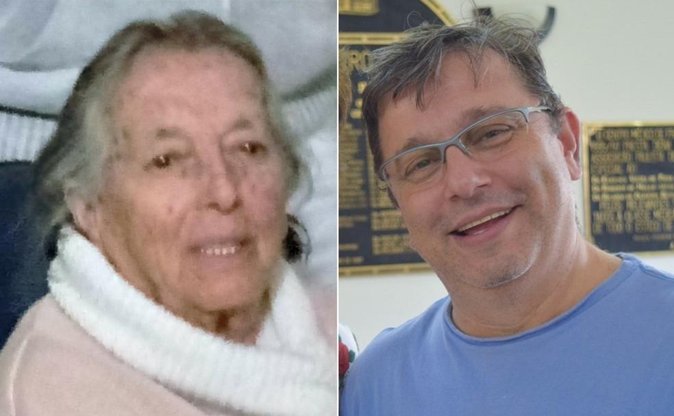 Zenaide e o filho, Mateus, morreram com Covid-19 em Franca, SP — Foto: Arquivo pessoal/Divulgação