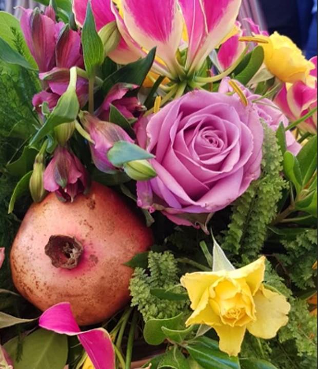 Arranjo de flores do casamento de Luiza Possi e Cris Gomes (Foto: Reprodução/Instagram)
