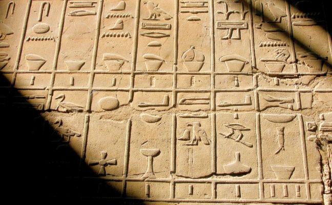 Hieróglifos, escrita antiga (Foto: Pixabay)