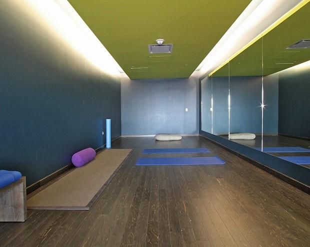 Sala de yoga, no aeroporto de São Francisco (Foto: Divulgação)