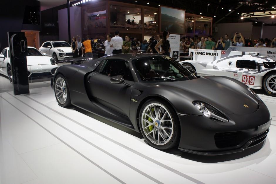 Porsche Spyder - Salão do Automóvel (Foto: Wikimedia Commons)
