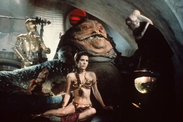 A atriz Carrie Fisher como a Princesa Leia em cena de O Retorno do Jedi (1983) (Foto: Reprodução)