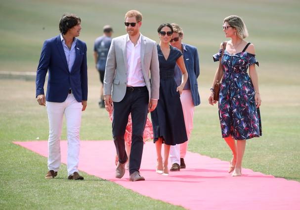 Nacho Figuares, Delfina Figueras, Meghan Markle e príncipe Harry (Foto: Getty Images)