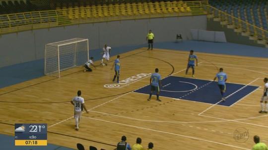 Goleada de Rio Claro por 9 a 0 marca rodada da Taça EPTV Central de Futsal