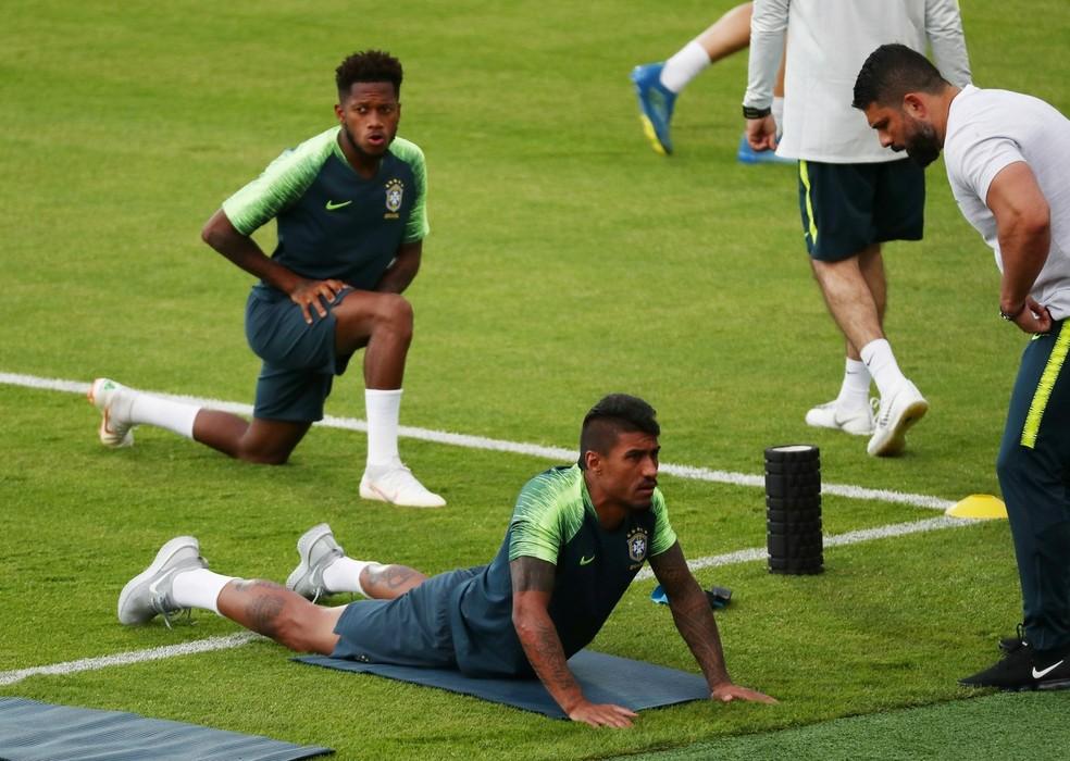 Seleção treina (Foto: Murad Sezer / Reuters)