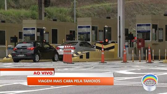 Com reajuste de 8,8%, pedágio da Tamoios em Paraibuna passa a custar R$ 7,40