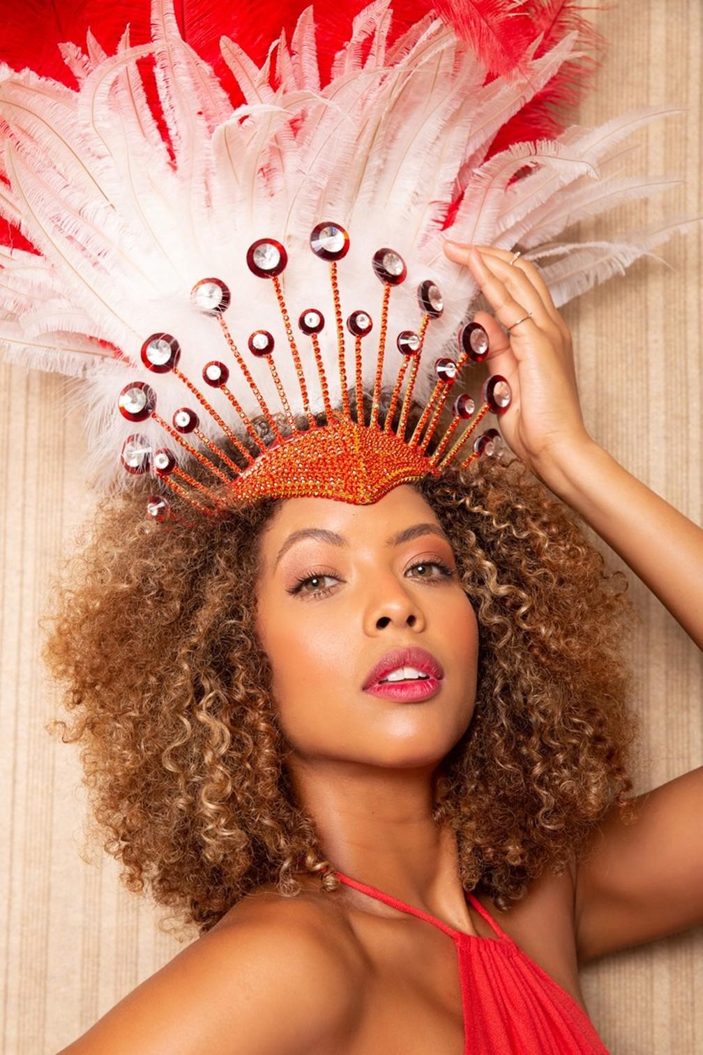 Karen Porfiro foi Miss São Paulo em 2017 e Miss Minas Gerais 2014 — Foto: Márcio Farias / Divulgação