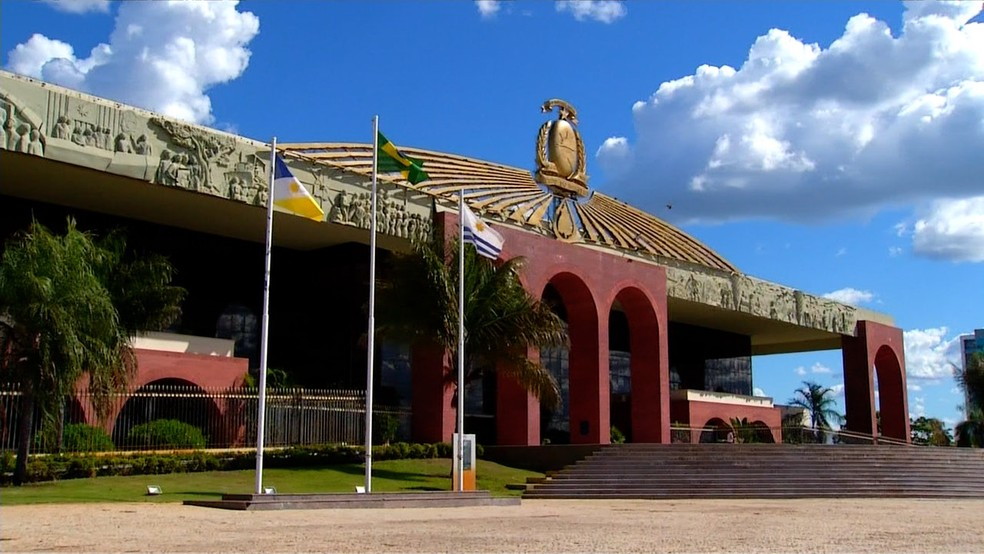 Palácio Araguaia, sede do Governo do Tocantins — Foto: Reprodução/TV Anhanguera