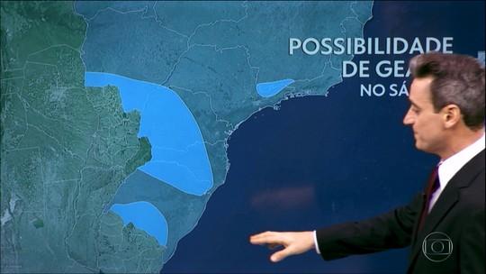 Sábado (25) tem risco de geada em pontos do Sul e do Sudeste