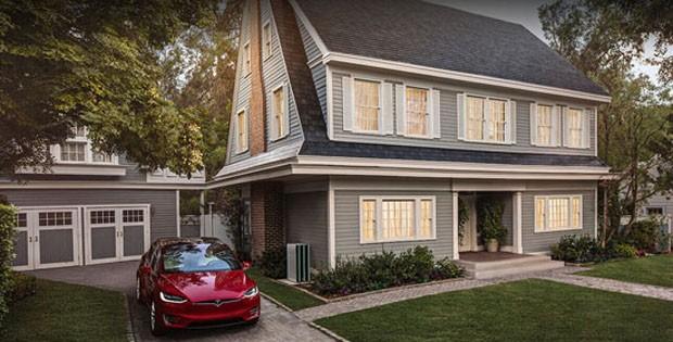 Tesla produz telhas que geram energia solar (Foto: Divulgação)
