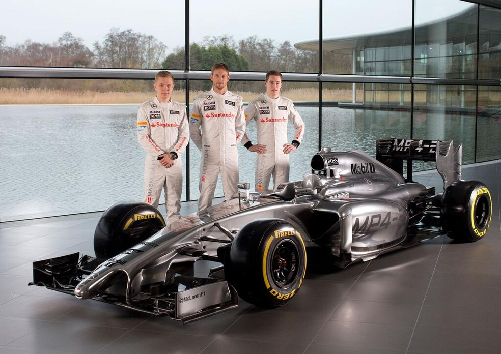 2014 foi a última temporada da McLaren com motores Mercedes — Foto: Divulgação