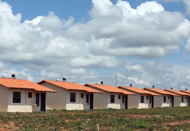Casas construídas com recursos do programa Minha Casa Minha Vida (Foto: Bruno Peres/Ministério das Cidades)