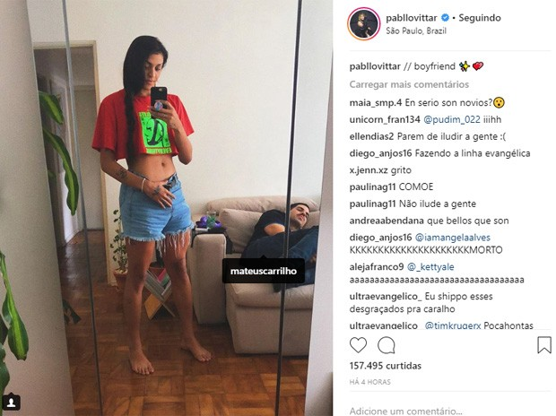 Pabllo Vittar e Mateus Carrilho (Foto: Reprodução/Instagram)