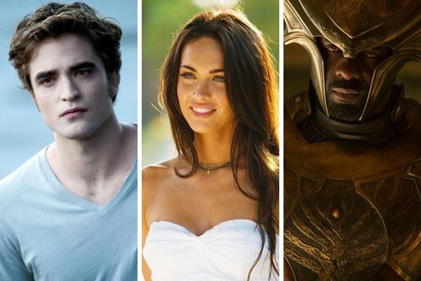 Mesmo odiando determinados papeis no cinema, Robert Pattinson, Megan Fox e Idris Elba já voltaram atrás e assumiram os personagens (Foto: Reprodução)