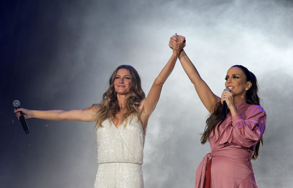 Gisele Bündchen e Ivete Sangalo abrem oficialmente o Rock in Rio 2017 no Palco Mundo (Foto: Alexandre Durão/G1)