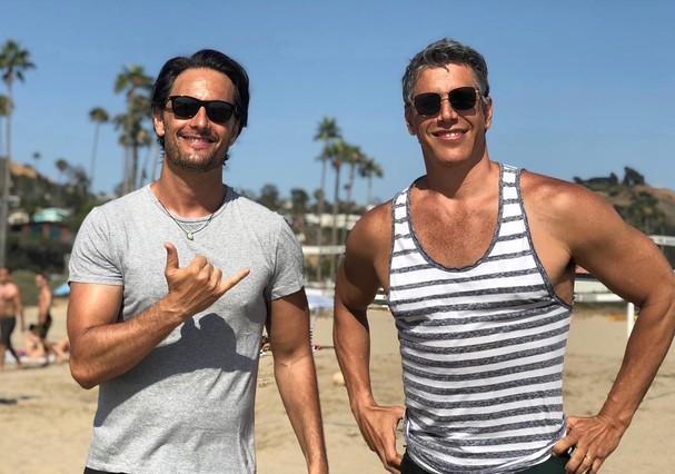 Rodrigo Santoro e Márcio Garcia (Foto: reprodução/Instagram)