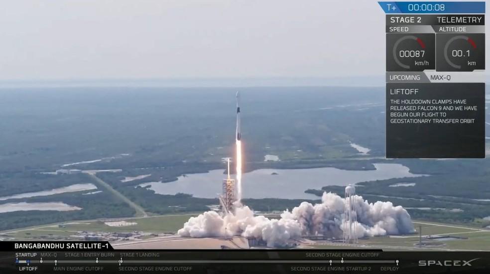 SpaceX lançou nesta sexta-feira seu novo foguete Falcon 9 Block 5. (Foto: Divulgação)