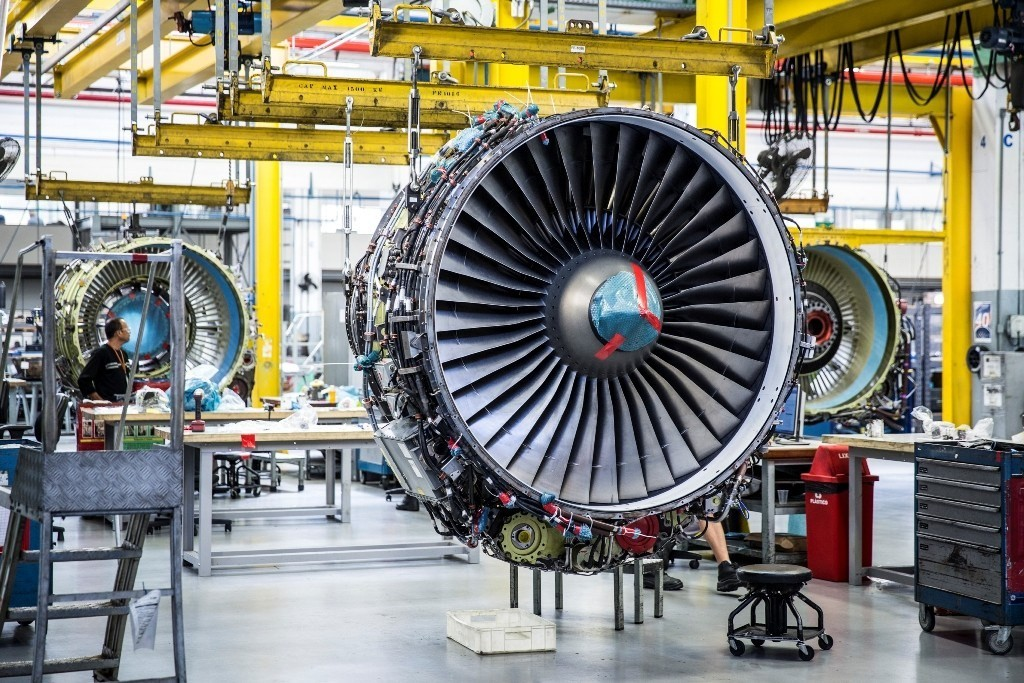 O material foi oficializado na prática da GE Celma, a unidade da GE Aviation no Brasil.  (Foto: Divulgação)