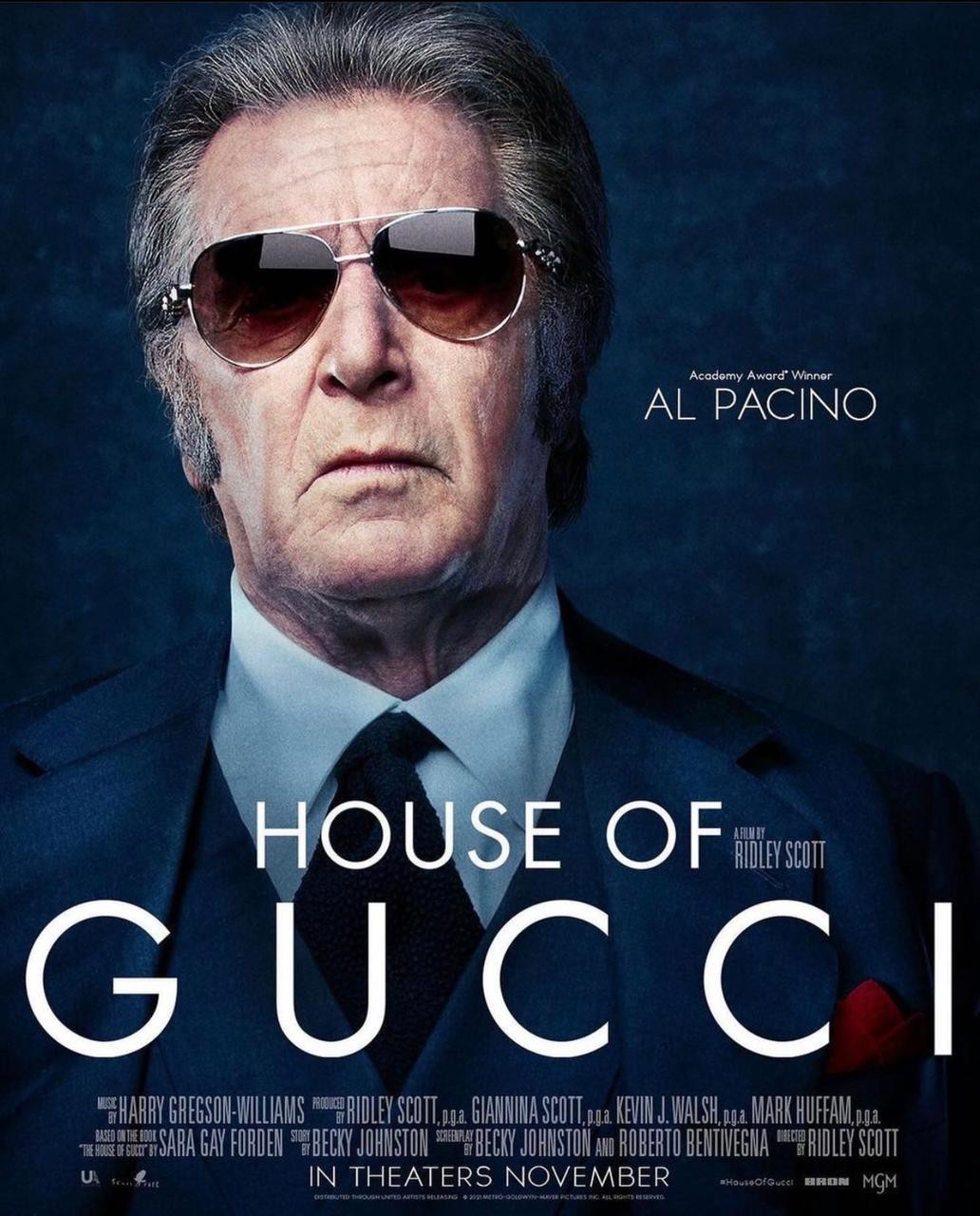 Al Pacino no pôster de 'House of Gucci' (Foto: Instagram/ Reprodução)