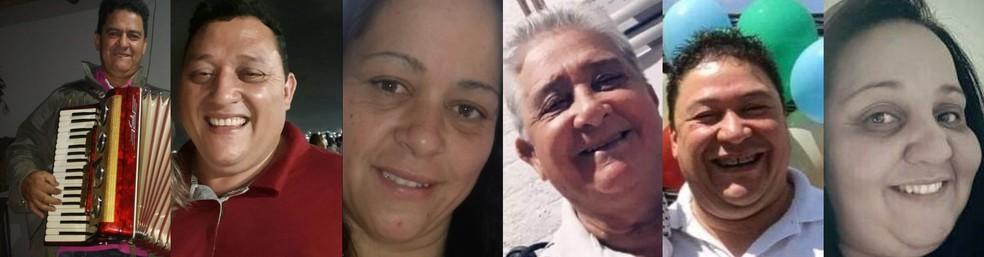 Irmãos e pai da mesma família morrem de Covid-19 em Ituporanga — Foto: Montagem/Reprodução/Redes sociais