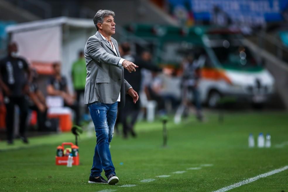 Renato Portaluppi, Grêmio x Santos, Libertadores — Foto: LUCAS UEBEL/GREMIO FBPA