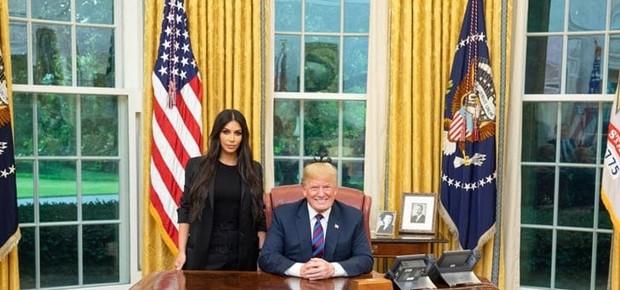 Kim Kardashian e Donald Trump (Foto: Reprodução Instagram)