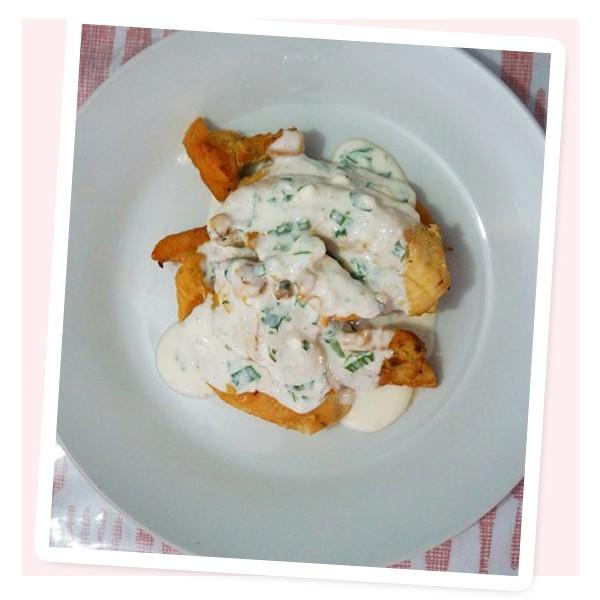 Peito de frango ao molho de hortelã + tomate com quinoa (Foto: Reprodução)