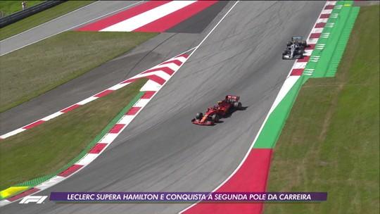 Leclerc supera Hamilton e conquista a segunda pole da carreira em classificação emocionante