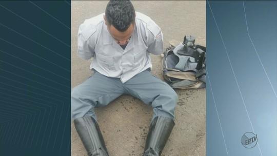 Homem que agia como falso policial rodoviário para roubar cargas é preso em Santa Cruz da Conceição, SP