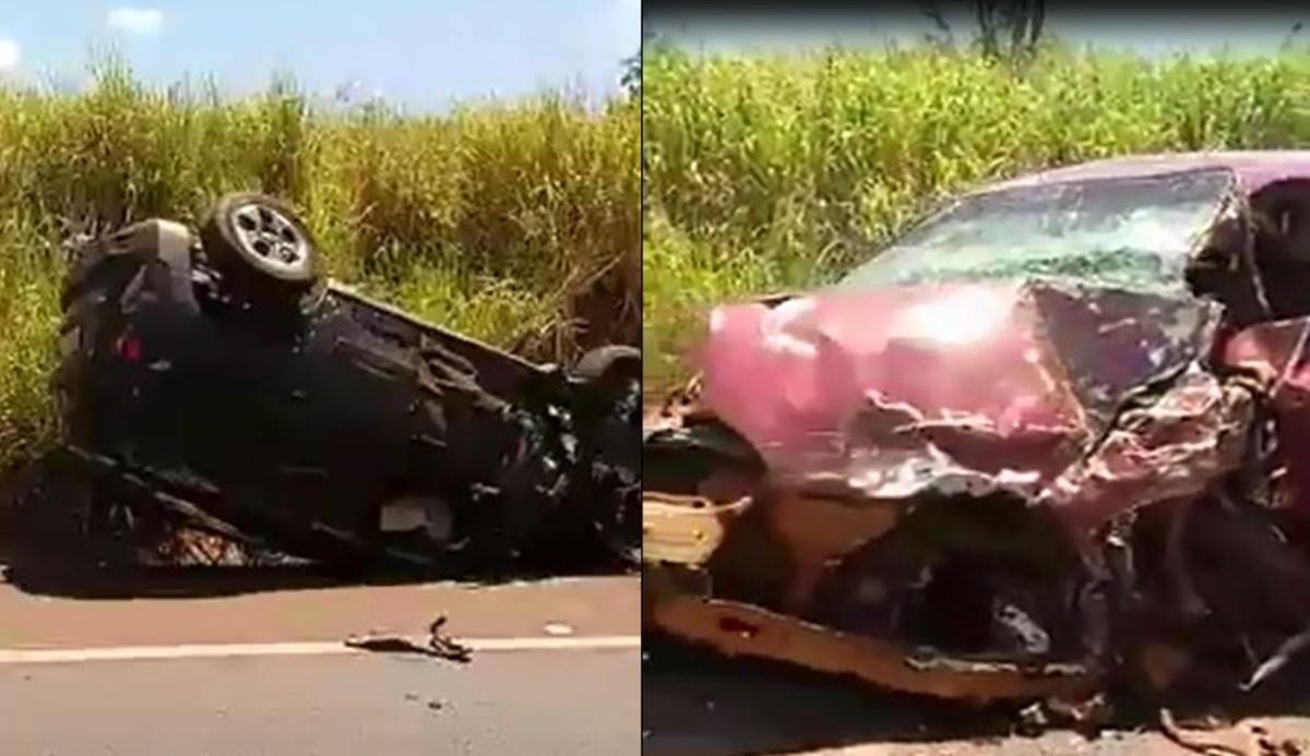 Colisão frontal entre carros em rodovia na região de Jaú deixa dois mortos   2ad9796f89da2