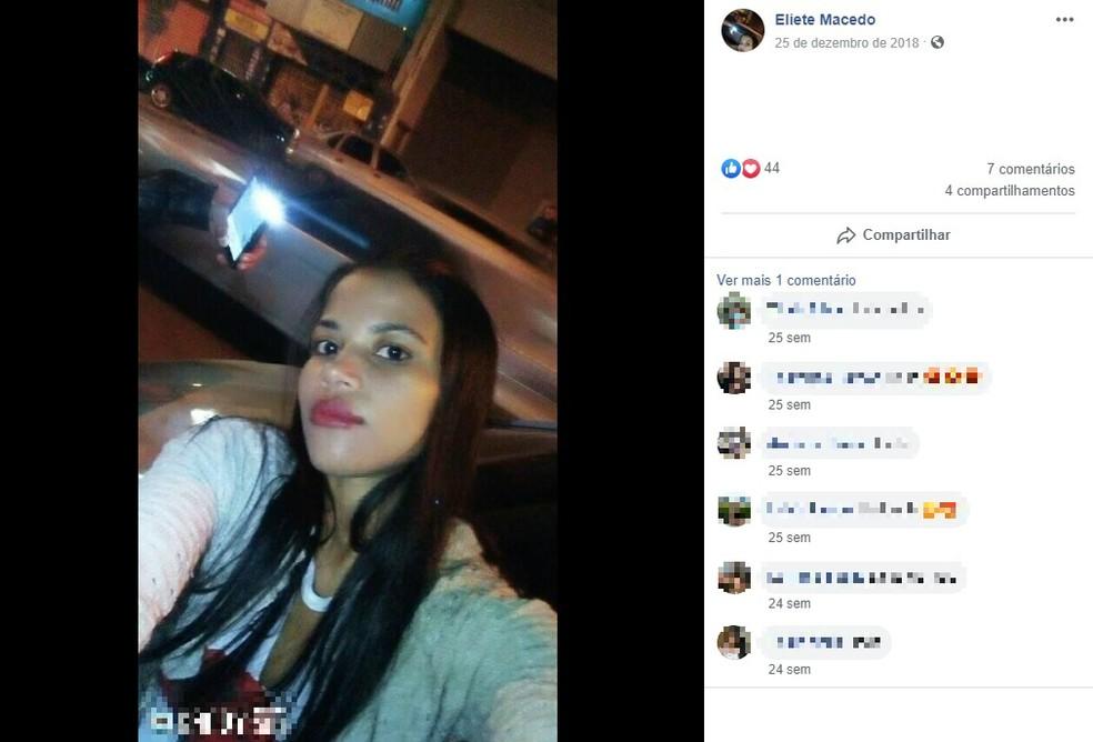 Eliete Macedo foi morta após ser agredida pelo companheiro em São Paulo — Foto: Reprodução/Redes Sociais