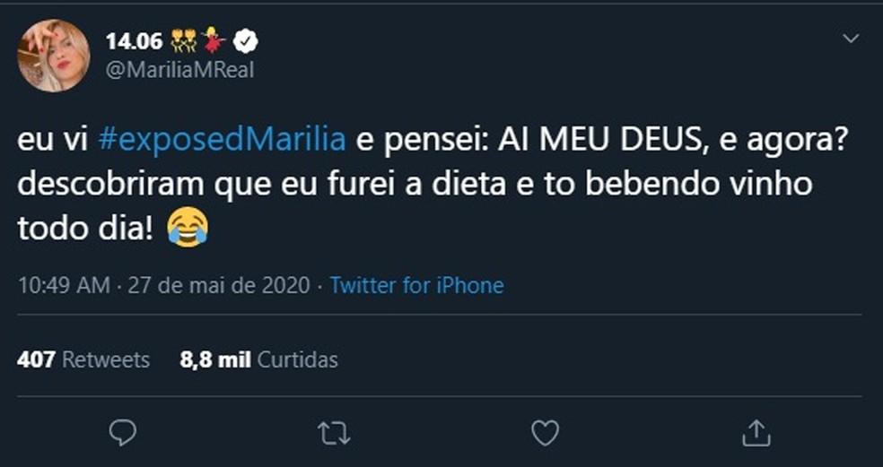 Cantora Mar?lia Mendon?a falou sobre a confus?o com seu nome e o da cidade do centro-oeste paulista ? Foto: Reprodu??o/Twitter