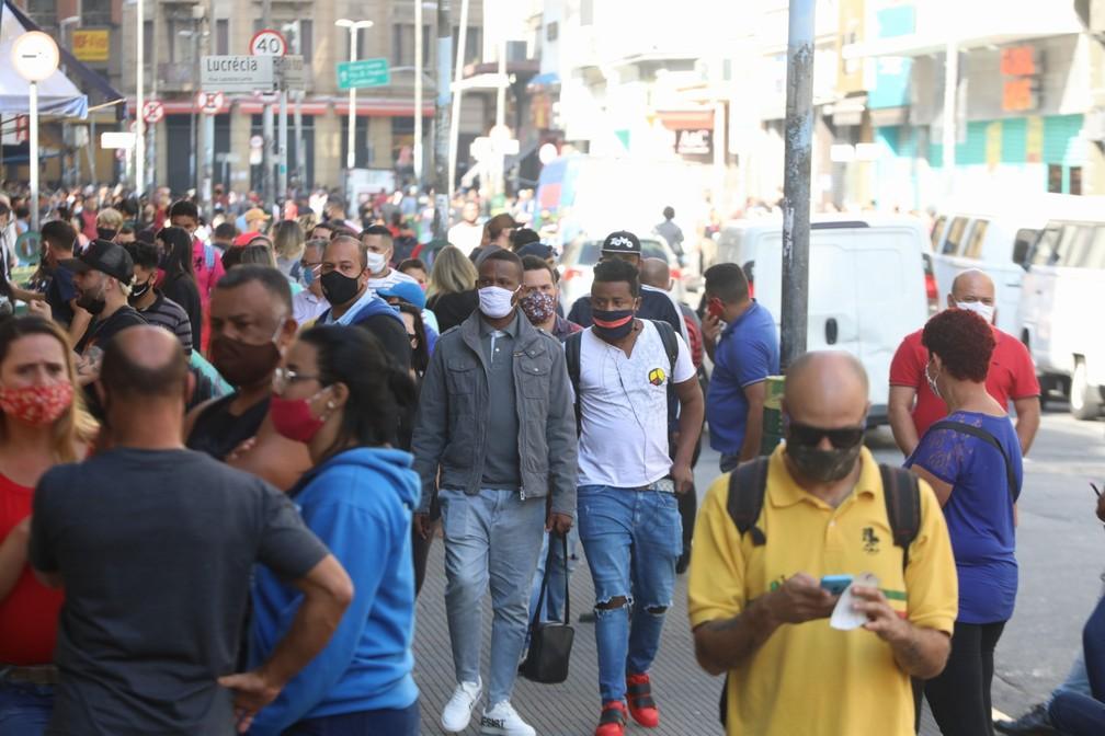 Reabertura do comércio de rua em SP — Foto: Fábio Tito/G1